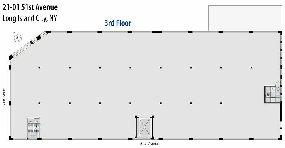 Open Floor Plan - third floor